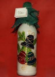 Resultado de imagen para botellas decoradas para navidad                                                                                                                                                                                 Más