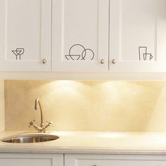 Kitchen Icon Labels  vinyl wall art decals graphic by TastySuite