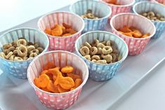 Goldfish and cheerios for a toddler's birthday party