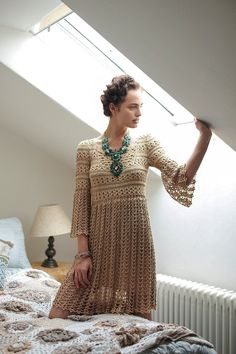 CROCHET moda exclusiva crochet vestido