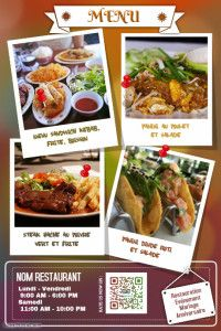 Copy of Creative restaurant flyers and poster Italian Food Restaurant, Mexican Food Restaurants, Restaurant Poster, Restaurant Names, Thai Recipes, Italian Recipes, Mexican Food Recipes, Menu Flyer, Chicken