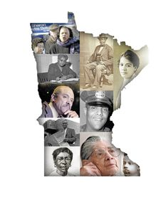 Clockwise from top left: Former Minneapolis Mayor Sharon Sayles Belton; wilderness guide George Bonga; attorney Lena O. Smith; St. Paul Deputy Police Chief James Griffin; lawmaker J. Frank Wheaton; DFL co-founder Nellie Stone Johnson; Harriet Robinson Scott, wife of Dred Scott; Thermo King co-founder Frederick Jones; Penumbra Theatre founder Lou Bellamy; I. Myrtle Carden of Hallie Q. Brown Community House. (Pioneer Press photo illustration)
