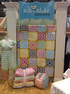 Riley Blake Chevron Quilt- love that it doesn't look like chevron- what a cute quilt pattern.