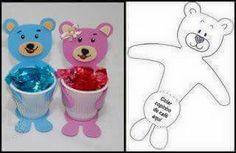 Bilderesultat for Cíntia Alves 79 Kids Crafts, Craft Stick Crafts, Easter Crafts, Craft Gifts, Diy And Crafts, Arts And Crafts, Teddy Bear Party, Diy Ostern, Hand Art
