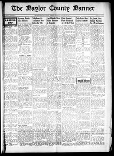 Weekly newspaper from Seymour, Texas that includes local, state, and national news along with advertising.