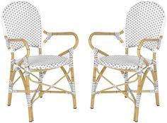 Ambroso Indoor/Outdoor Stacking Chair, Set of 2 - Safavieh - $169 - domino.com