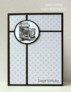 Traveler masculine birthday card, using supplies from Stampin' Up! www.craftingandstamping.com #stampinup