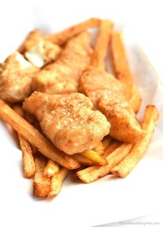 Crispy Beer Battered Fish and Chips