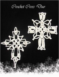Susan's Hippie Crochet: Thread Crochet Crosses - Christmas Ornaments for your Tree