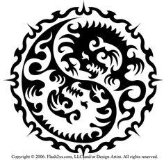 Tattoofinder-com-tribal-dragon-tattoo-design-by-artist-phil-merkle-az