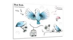 Craquez pour cette parure de tatouages éphémères dessinés par Claire Baldairon à l'aquarelle avec ses jolis oiseaux.