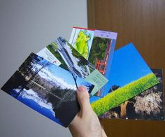 Home-made Postcards from recycled materials - FREE