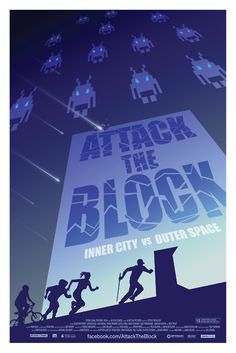 Attack the Block minimalist movie poster by Ollie Boyd
