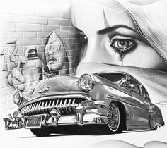 Ghetto drawing by Charles Laveso from Brazil   No. 1325