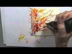 Brusho Paints With Eileen Part Two - YouTube -looks like great fun to make a great background