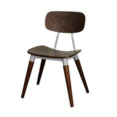 You'll love the fascinating design scheme of this Simpson Side Chair. Modeled after an old-style schoolhouse seat, it's a stunning example of ash veneer in a deep espresso with silver-toned accents. A ...  Find the Simpson Side Chair, as seen in the #SoftSideofMidCentury Collection at http://dotandbo.com/collections/soft-side-of-mcm?utm_source=pinterest&utm_medium=organic&db_sku=112775