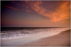 Sunset Over the Atlantic  Jumping dolphins can often be spotted in the surf at Edisto Island. But take time to look down. Edisto Beach is one of the premier shelling beaches on the Eastern Seaboard.