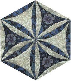 #23 Barbara Brackman's MATERIAL CULTURE: EPPPerfect: Becky's Morris Hexathon Blocks #23