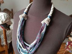 linen necklace linen strings handmade linen hit Crochet Necklace, Lens, Handmade, Jewelry, Fashion, Moda, Hand Made, Jewlery, Jewerly