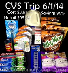 We had a great #CVS shopping trip on 6-1! We picked up $92.52 worth of items for only $3.91. We saved 96% shopping at CVS this week! #Couponing #ExtremeCouponing  Click the link below to get the FULL BREAKDOWN ► http://www.thecouponingcouple.com/cvs-shopping-trip-on-6-1-96-savings/