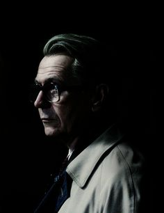 """Gary Oldman as George Smiley in the feature film version of """"Tinker, Tailor, Soldier, Spy"""". George Smiley, Beautiful Men, Beautiful People, Tinker Tailor Soldier Spy, Actor Studio, Celebrity Faces, Love Film, Gary Oldman, Great Films"""