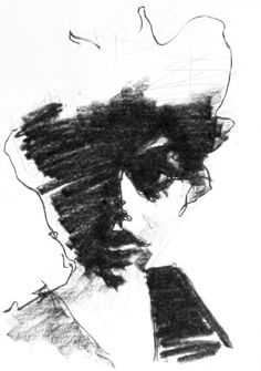 Lee Woodman (Male, New Zealand)/ Charcoal no. 99/ 2012. Beautiful example of a gestural drawing.