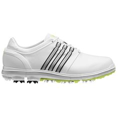Adidas Men's Pure 360 White/ Silver/ Slime Golf Shoes