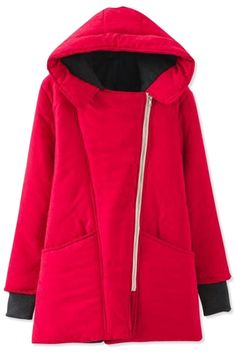 Thermal Asymmetric Cotton-Padded Coat