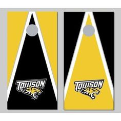 Towson University Tigers Cornhole Bag Toss Game Set Triangle Version