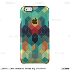 Colorful Cubes Geometric Pattern 2 Uncommon Clearly™ Deflector iPhone 6 Case