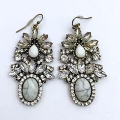 Statement Marmol Earrings. Beautiful statement earrings. About 2 inches drop. Statement Jewelry Earrings