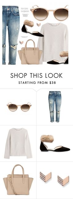 Tuesday by smartbuyglasses ❤ liked on Polyvore featuring Ray-Ban, Topshop, Helmut Lang, ANNA BAIGUERA, Salvatore Ferragamo, FOSSIL, beige and rayban