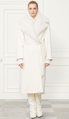 Ralph Lauren Fall 2014 Collection Leonarda Wool-Cashmere Coat