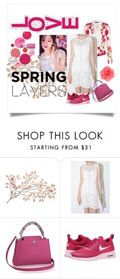 """""""Spring's Kiss"""" by mikomaws ❤ liked on Polyvore featuring Clinique, NIKE and Accessorize"""