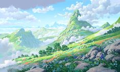 Jumpstart_Optus - Sun Creature Studio by Lorenzo Lanfranconi Lego Wallpaper, Music Wallpaper, Fantasy Art Landscapes, Fantasy Landscape, Matte Painting, Doodle, Nature Artists, Environment Design, Illustrations