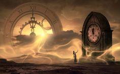 Eine alte Prophezeiung beschreibt die heute stattfindenden und die kommenden Veränderungen - Alpenschau.com Clock Wallpaper, Hd Wallpaper, Public Domain, Fantasy Landscape, Fantasy Art, Albert Robida, Karma, 4k Wallpapers For Pc, Photo Café