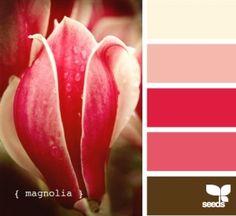 Magnolia colour scheme #LoveColour