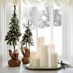 Perfect pillar candle arrangement