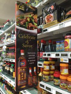 Double Pagoda Celebrate & Savor Shelf Banner