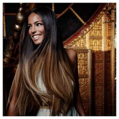 dark to medium dark ombre hair (my hair is not this LONG but it is that dark on top.. so maybe this is a good ombre color for me @Karen Jacot Jacot Silverio ?)