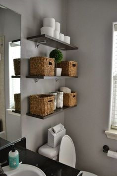 Tiny Bathroom Storage (6) #tinybathrooms