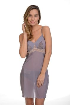 414360be14 Samantha Chang Micro Mesh Chemise. Pearl Boutique ...