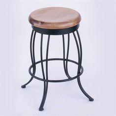 Holland Bar Stool 0030 Cambridge Swivel Bar Stool with Wood Seat