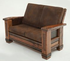 Upholstered Barnwood Loveseat - Item # LR06146 - 4 Leather Options
