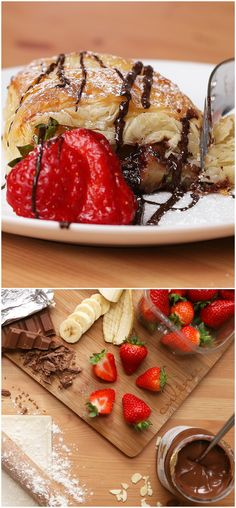 Double Chocolate And Fruit Breakfast Pastry