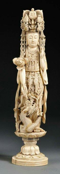 Men And Women Accompanied By Identification Certificate Guanyin Independent Hetian White Jade Buddha