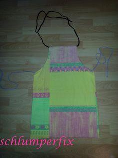 Kinderschürze aus Bettwäsche / Children's apron made from bed linen / Upcycling