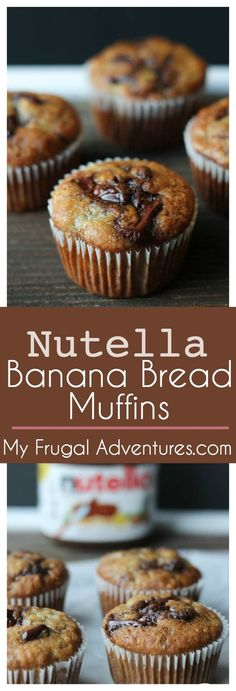 Nutella Banana Bread Muffins- absolutely delicious and a perfect homemade gift! via @frugaladventure