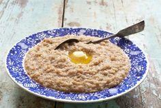 oat & rye porridge, typical breakfast in Finland