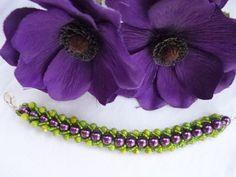 Flat Spiral Bracelet Beaded Bracelet Beadwoven Bracelet Spiral Bracelet Seed Bead Bracelet
